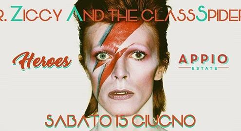 """Un tributo a Davide Bowie, """"Heroes"""" al Parco Appio."""