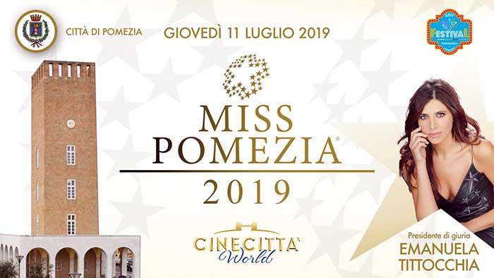 Cinecittà World appuntamento con Miss Pomezia 2019.
