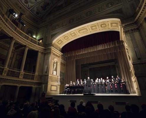 """Teatro di Villa Torlonia ciclo """"Opera a Teatro""""."""