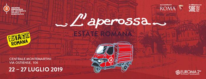 Ape Rossa. L'iniziativa è parte del programma dell'Estate Romana 2019