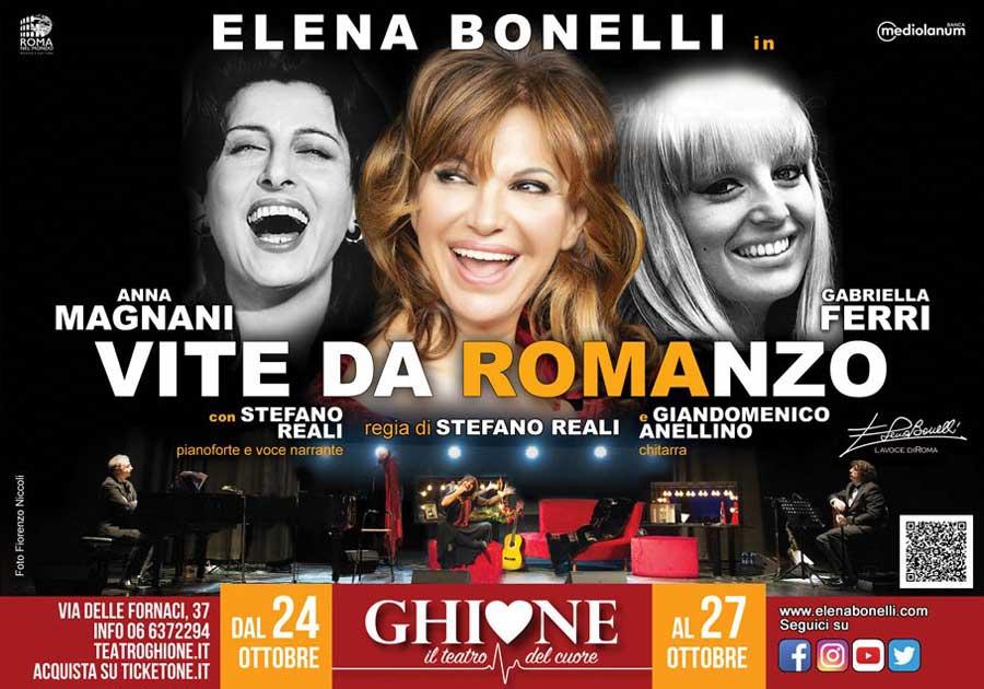 """Teatro Ghione torna Elena Bonelli in """"Magnani-Ferri - Vite da Romanzo""""."""