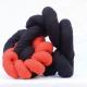 Jorge Eduardo Eielson Nodo con morte panno nero e rosso 2002 30x15x40