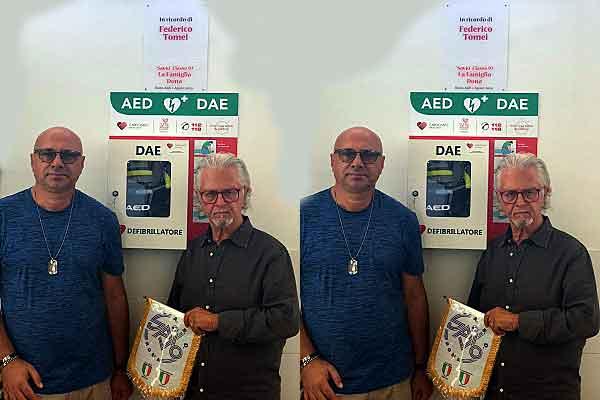 Federico Tomei, in suo ricordo un defibrillatore all'Asd Savio