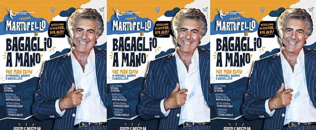 """Martufello in """"Bagaglio a mano"""" Teatro degli Audaci."""