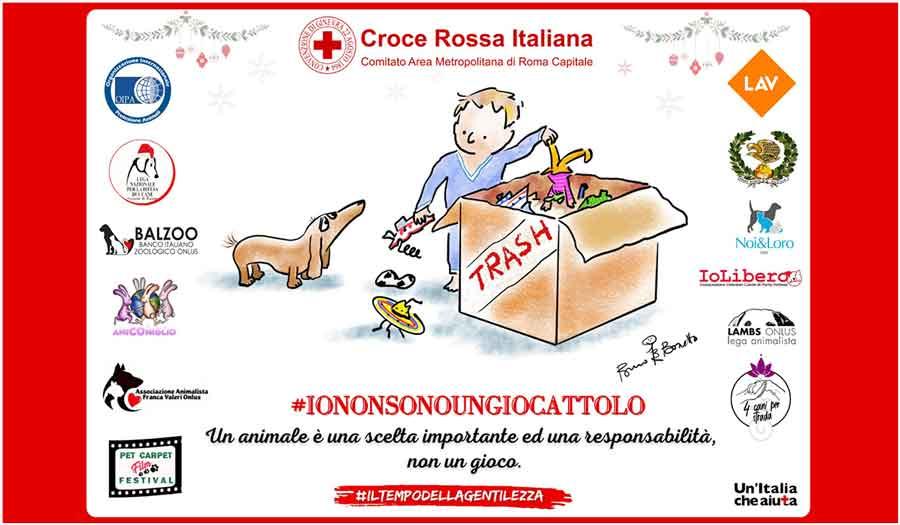 """Croce Rossa di Roma """"Io non sono un giocattolo""""."""