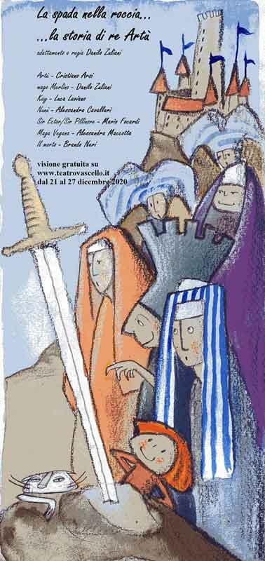 """Teatro Vascello """"La spada nella roccia""""."""