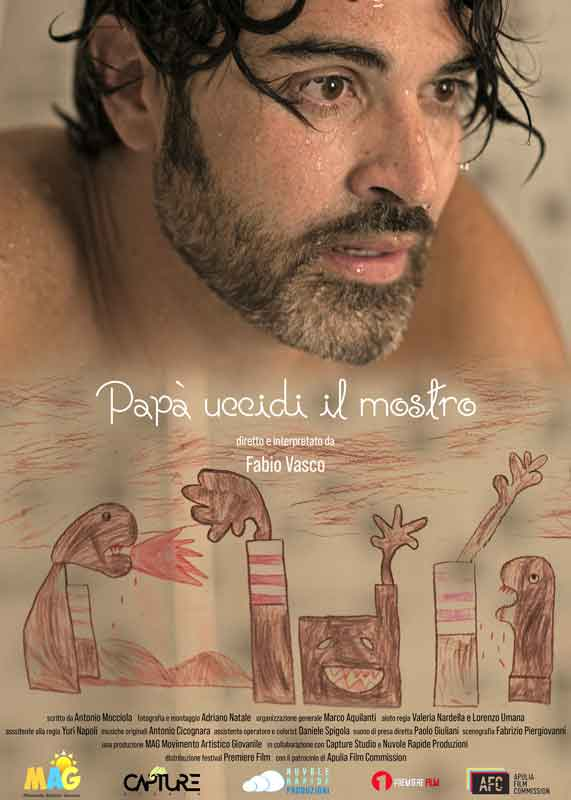 """Fabio Vasco in """"Papà uccidi il mostro""""."""