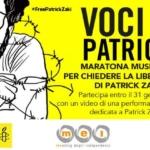 "Free Patrick Zaki una ""Maratona musicale""."