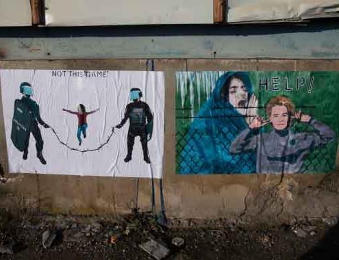 "Rotta Balcanica ""La Street Artist Laika."