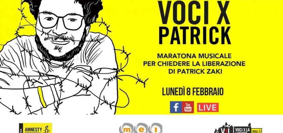 "Patrick Zaki 12 ore diretta streaming ""Liberatelo""."
