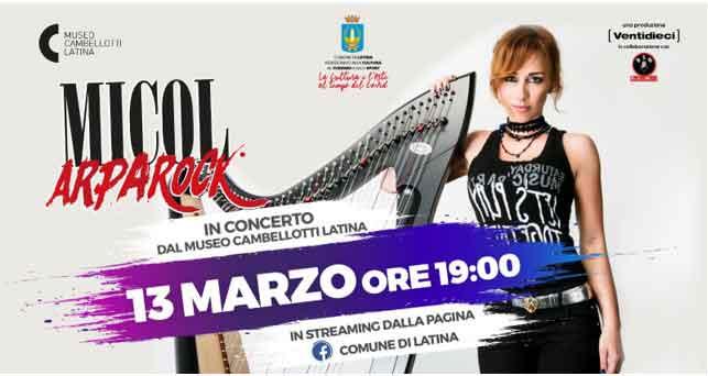 Micol Arpa Rock in concerto Museo Cambellotti Latina.