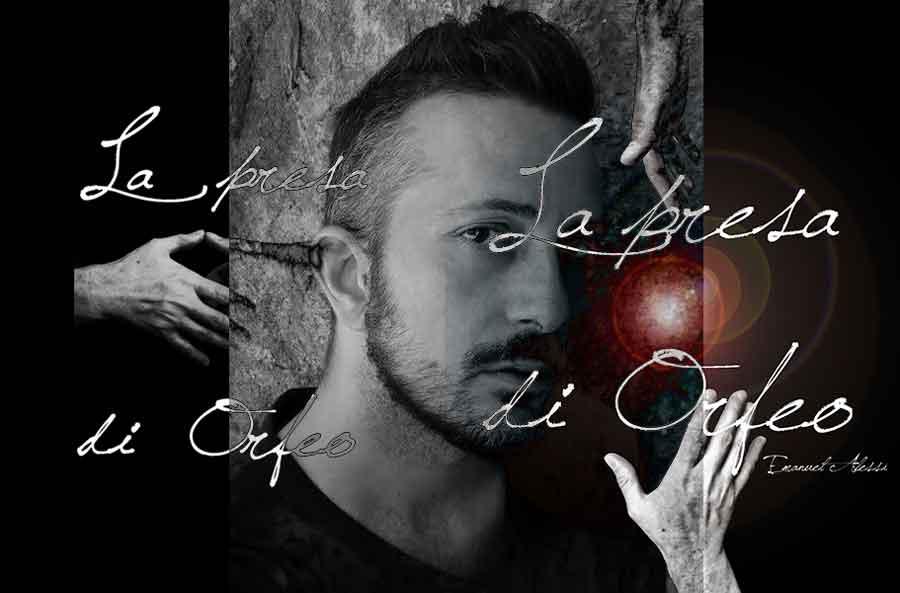 """Emanuel Alessi e il suo libro """"La presa di Orfeo""""."""