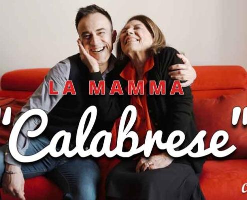 """Gennaro Calabrese con """"La Mamma Calabrese""""."""