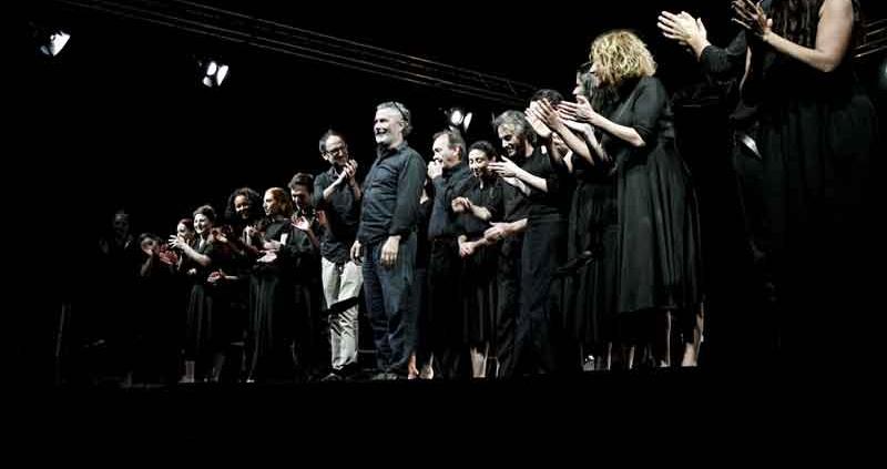 """I Solisti del Teatro """"Studio per un Giulio Cesare""""."""