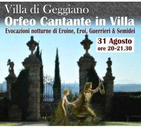 """Villa di Geggiano Siena """"Format per giovani artisti""""."""