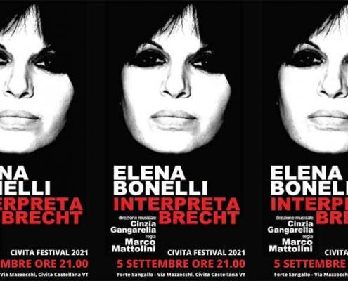"Elena Bonelli interpreta Brecht ""Civita Festival 2021"""