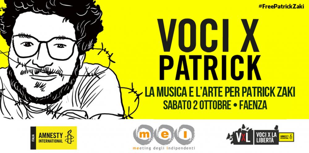 Patrick Zaki la voce di Amnesty International Italia.