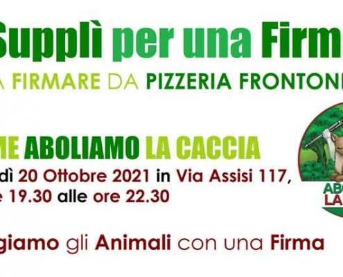 """Pizzeria Frontoni presenta """"Un Supplì per una Firma"""""""