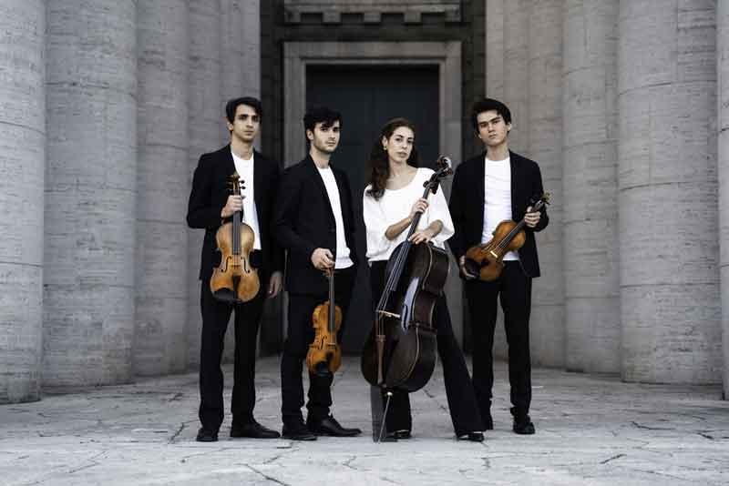 Quartetto Eos al Parco degli Acquedotti di Roma.